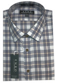 Enro Non-Iron Spread Collar Multi Check Sportshirt