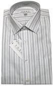 Enro Non-Iron Spread Collar Navy Stripe Dress Shirt