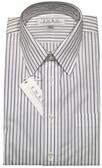 Enro Non-Iron Regular Collar Purple and Black Stripe Dress Shirt