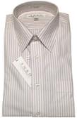 Enro Non-Iron Regular Collar Pink/Black Stripe Dress Shirt