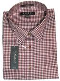 Enro Non-Iron Hidden Button Down Collar Red Check Big & Tall Sportshirt