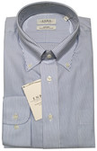 Enro Non-Iron Button Down Collar Blue Stripe Dress Shirt