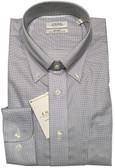 Enro Non-Iron Button Down Collar Grey Mini Check Dress Shirt