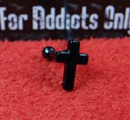 Black Cross Straight Barbell 16g