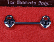 Silver Heart Locket Nipple Bar