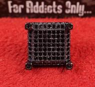 3-D 77 Gem Black Castle Custom Earring