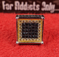 3-D 77 Gem Black Yellow Custom Earring