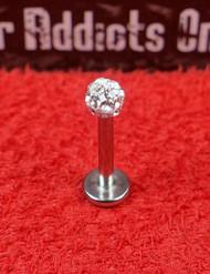 Swarovski Crystal Gem Ball Flat Back 16g 5/16 4mm Clear