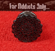 Black Mandala Screw On Plug