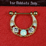 Opal Nipple Shield Gold Plated