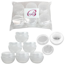 20G/20ML White Frosted Plastic Cosmetic Jars