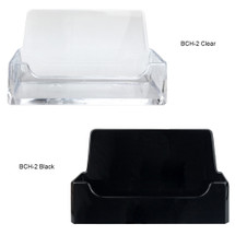 Business Card Holder (Style #2) - Colors: (Black, Clear)