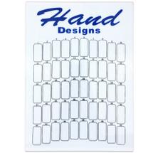 50 Slot Hand Designs Nail Tips Display Board