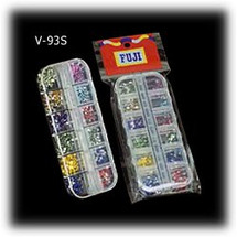 12 Slot Clear Rectangular Container Box with Rhinestones