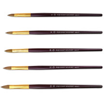 Fuji Finest Oval Crimped Kolinsky Brush with Purple Wood Handle