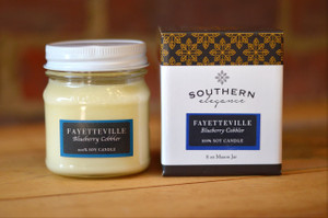Fayetteville Mason Jar Candle - Blueberry Cobbler