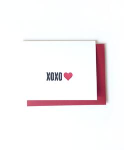XOXO Letterpress Card