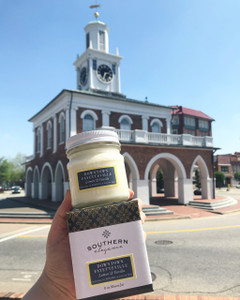 Downtown Fayetteville Mason Jar Candle - Lemon & Vanilla