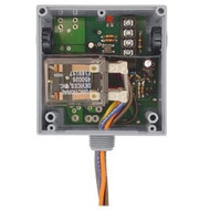 FUNCTIONAL DEVICES FUNRIBTE24P Enclosed Relay Hi/Low sep 20Amp DPDT 24Vac/dc power + 5-30Vac/dc control
