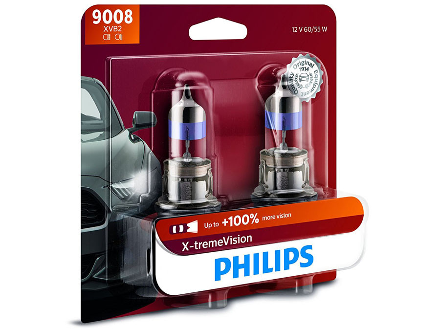 Enclosed package of Philips X-treme Vision +100% H13/9008