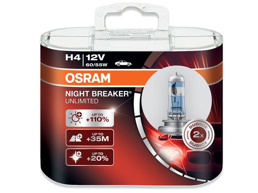 Dual package of Osram Night Breaker Unlimited H4