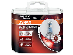 Dual package of Osram Night Breaker Unlimited H4