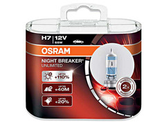 Dual package of Osram Night Breaker Unlimited H7