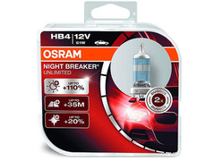 Dual package of Osram Night Breaker Unlimited HB4/9006