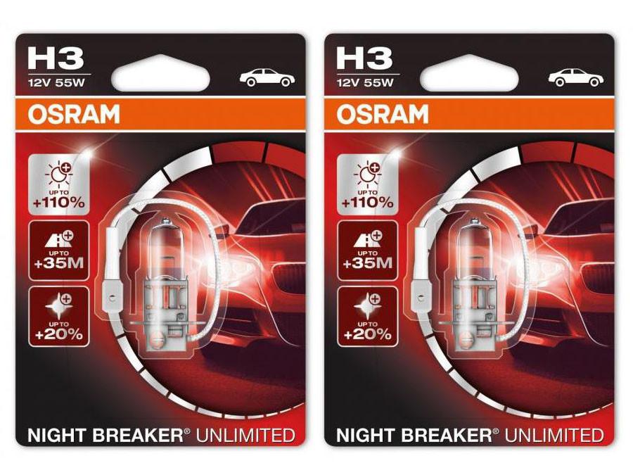 Set of Osram Night Breaker Unlimited H3