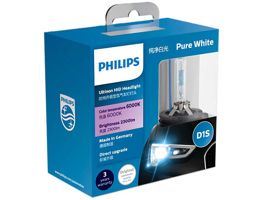 Package of Philips Ultinon HID Xenon bulbs