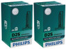 Set of Philips X-treme Vision +150% HID Xenon headlight bulbs 85122XV2C1 D2S