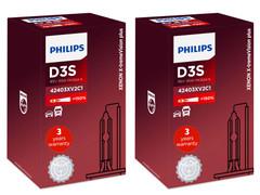 Set of Philips X-treme Vision +150% HID Xenon headlight bulbs 42403XV2C1 D3S