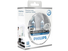 Dual package of Philips White Vision halogen bulbs 12258WHVSM H7