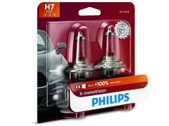 Enclosed package of Philips X-treme Vision +100% H7