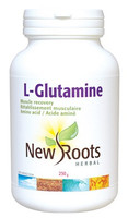 New Roots L-Glutamine Powder 100% pure, 250 g | NutriFarm.ca