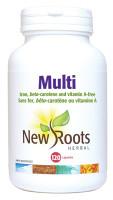 New Roots Multi, 120 Capsules | NutriFarm.ca