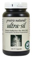 Prairie Naturals Ultra-Sil 500mg, 180 Veg Caps | NutriFarm.ca