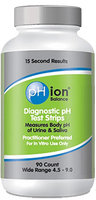Bell pH ion balance (diagnostic pH test strips), 90 strips | NutriFarm.ca