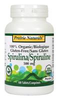 Prairie Naturals Spirulina 500mg, 180 Tablets | NutriFarm.ca