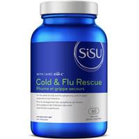SISU Cold & Flu Rescue with Ester-C, 60 Vegetable Capsules   NutriFarm.ca