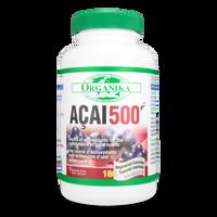 Organika ACAI 500 20mg, 180 Vegetable Capsules | NutriFarm.ca