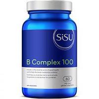 SISU B Complex 100, 60 Vegetable Capsules   NutriFarm.ca