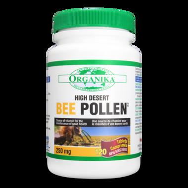 Organika Bee Pollen (High Desert) 250mg, 120 Tablets | NutriFarm.ca