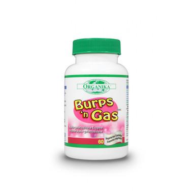 Organika Burps & Gas, 60 Capsules   NutriFarm.ca