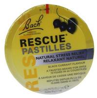 Bach Rescue Pastilles Black Currant, 50 g | NutriFarm.ca