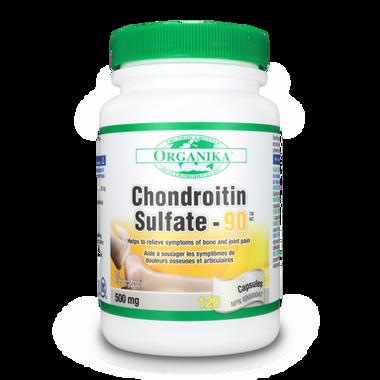 Organika Chondroitin Sulfate 90, 120 Capsules | NutriFarm.ca