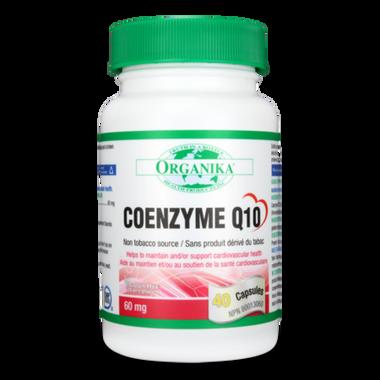 Organika Coenzyme Q10 60mg, 40 Capsules   NutriFarm.ca