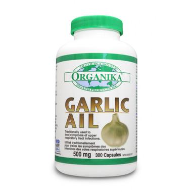 Organika Garlic 500mg, 300 Caps | NutriFarm.ca