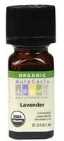 Aura Cacia Lavender Organic Essential Oil, 7.4 ml