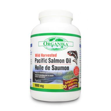 Organika Salmon Oil 1000 mg, 500 Softgels | NutriFarm.ca